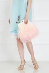 Шелковый клатч с перьями марабу Flamingo Esve