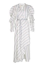 Платье из шелка и хлопка Matters Wrap A.W.A.K.E.