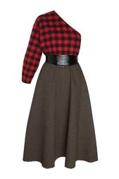 Платье из шерсти и хлопка Grandpa's Plaid A.W.A.K.E.