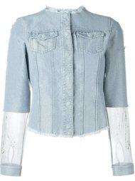 джинсовая куртка с панельным дизайном Aviù