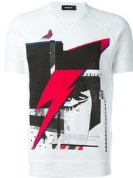 футболка с с абстрактным принтом   Dsquared2