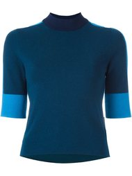 свитер с контрастными рукавами Tory Burch