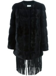 пальто с бахромой Yves Salomon