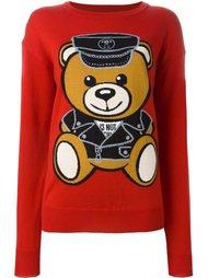 джемпер 'biker teddy bear' Moschino