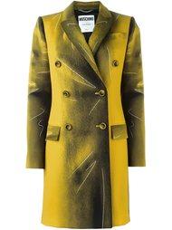 классическое пальто trompe-l'œil Moschino