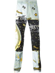 джинсы с принтом 'Astological'  Versace