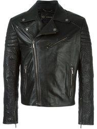 байкерская куртка с контрастными полосками   Versace