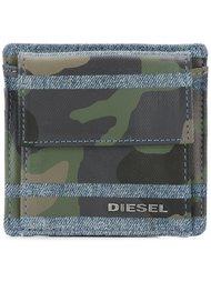кошелек с камуфляжным принтом  Diesel