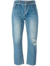 укороченные джинсы бойфренды System