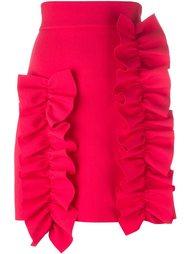 юбка мини с рюшами MSGM
