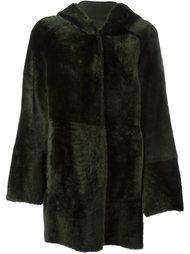 расклешенное пальто с капюшоном  Drome