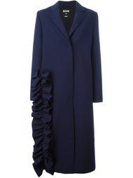пальто с оборками MSGM