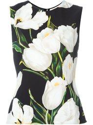 топ с принтом тюльпанов  Dolce & Gabbana