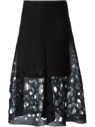 sheer cut out skirt Akris