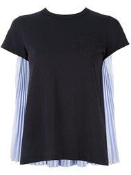 футболка с плиссировкой Sacai