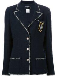 пиджак с контрастной окантовкой Chanel Vintage