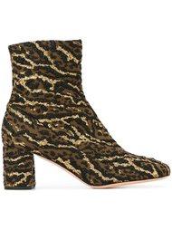 ботинки с леопардовым принтом  Rochas
