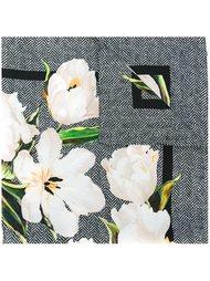 платок с принтом тюльпанов Dolce & Gabbana