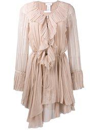 асимметричное платье с оборками Chloé