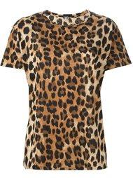 футболка с леопардовым принтом  R13