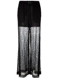 кружевные широкие брюки  McQ Alexander McQueen