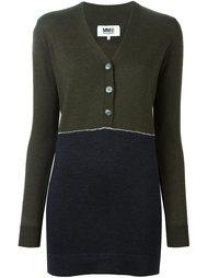 свитер дизайна колор-блок Mm6 Maison Margiela
