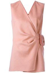 блузка с меховой пряжкой Ermanno Scervino
