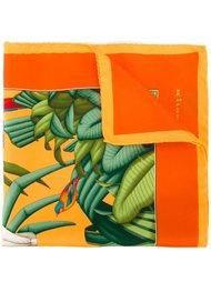 карманный платок с тропическим принтом Kiton