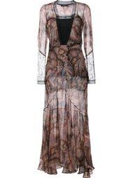 вечернее платье с принтом пейсли Etro