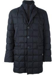 стеганое пальто с двойным воротником Fay