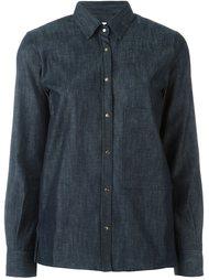 джинсовая рубашка с накладными карманами Golden Goose Deluxe Brand