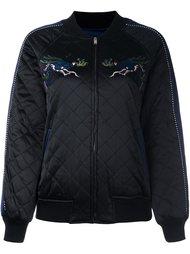 стеганая куртка-бомбер с вышивкой Steve J & Yoni P