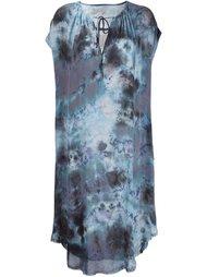 tie dye silk dress Raquel Allegra