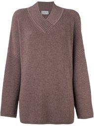 свободный свитер c V-образным вырезом   Lanvin