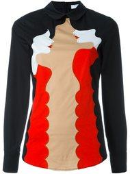 блузка с вышивкой и длинными рукавами Vivetta
