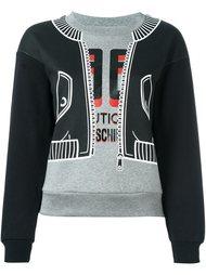 толстовка с принтом куртки-бомбера Boutique Moschino