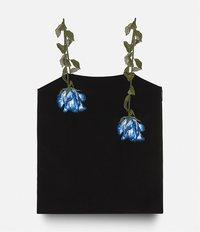 топ с цветочной вышивкой Christopher Kane