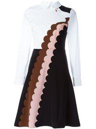 приталенное платье с фестончатой вышивкой  Vivetta