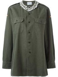 рубашка с декорированной горловиной Forte Couture
