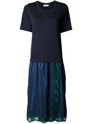 платье с кружевной вставкой  Muveil