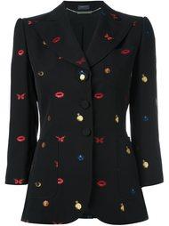пиджак с вышивкой 'Obsession' Alexander McQueen