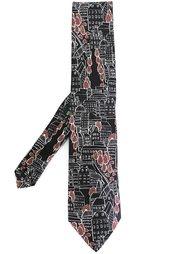галстук с принтом города Etro