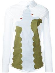 блузка с длинными рукавами и вышивкой Vivetta