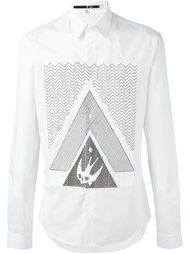 рубашка с принтом 'Swallow Glyph' McQ Alexander McQueen