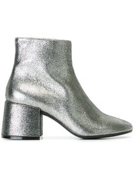 ботинки по щиколотку с металлическим отблеском  Mm6 Maison Margiela