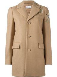 пальто с птицами из пайеток Red Valentino