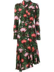 платье-рубашка с цветочным узором Erdem