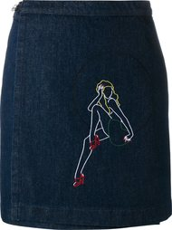 embroidered denim skirt Jour/Né