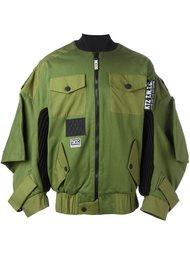 куртка-бомбер с карманами с клапанами KTZ