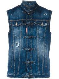 джинсовая жилетка с рваными деталями Dsquared2